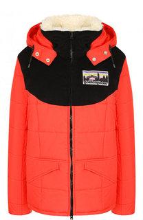 Стеганая куртка с капюшоном и воротником-стойкой Golden Goose Deluxe Brand