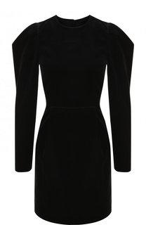 Приталенное бархатное платье с открытой спиной Valentino