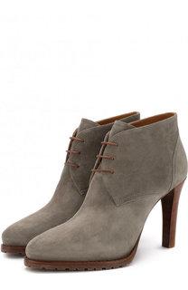Замшевые ботильоны на шнуровке Ralph Lauren