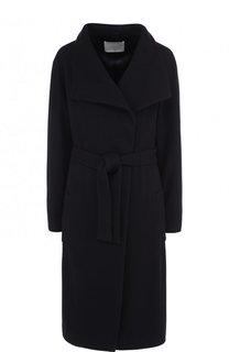Пальто из смеси шерсти и кашемира с поясом BOSS