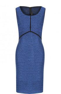 Вязаное мини-платье с круглым вырезом St. John