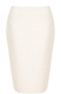 Вязаная юбка-карандаш с разрезом St. John