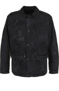 Хлопковая куртка на пуговицах с принтом Polo Ralph Lauren