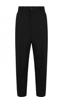 Однотонные укороченные брюки из шерсти Yohji Yamamoto