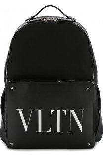 Текстильный рюкзак Valentino Garavani с отделкой из кожи Valentino
