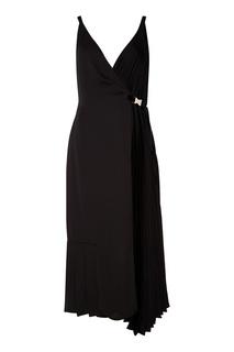 Асимметричное черное платье Prada