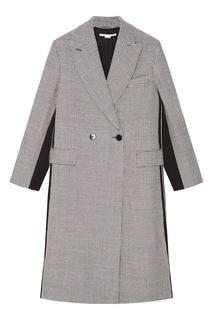 Двубортное пальто с контрастными вставками Stella Mc Cartney