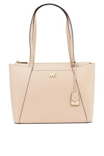 Розовая кожаная сумка Maddie Michael Kors