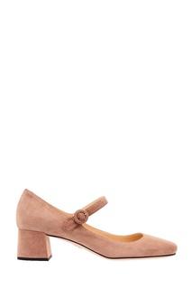 Розовые замшевые туфли Prada