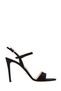 Черные босоножки на каблуке Prada