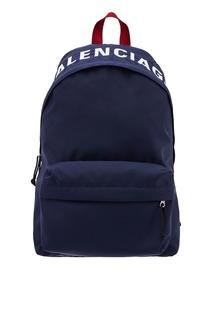 Темно-синий рюкзак Balenciaga