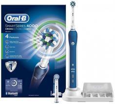 Электрическая зубная щетка Braun Oral-B SmartSeries 4000 (белый)