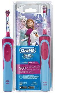 Электрическая зубная щетка Braun Oral-B Stages Power Frozen (голубой)