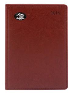 Ежедневник LETTS UMBRIA, A5, белые страницы, кожа искусственная, коричневый, 1 шт