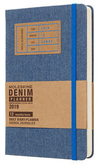 Ежедневник MOLESKINE Limited Edition DENIM, 400стр., синий [ddn12dc3]