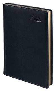 Ежедневник LETTS UMBRIA, недатированный, A5, белые страницы, кожа искусственная, черный