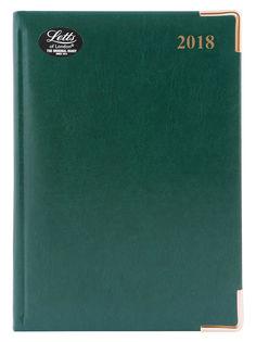 Ежедневник LETTS LEXICON (PU), A5, белые страницы, кожа искусственная, зеленый, 1 шт