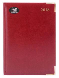 Ежедневник LETTS LEXICON (PU), A5, белые страницы, кожа искусственная, бургунди, 1 шт