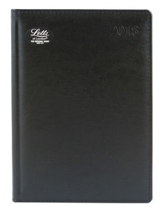 Ежедневник LETTS GLOBAL DELUXE, A5, белые страницы, кожа натуральная, черный, 1 шт