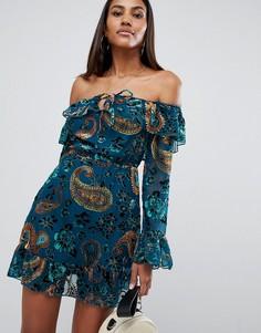 Платье с открытыми плечами Missguided - Мульти
