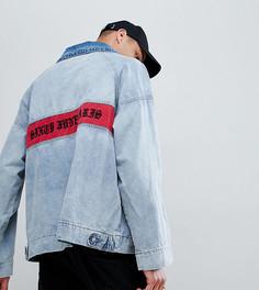 Джинсовая куртка с логотипом на спине Sixth June эксклюзивно для ASOS - Черный