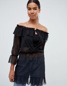 Платье с открытыми плечами Missguided - Черный