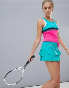 Светло-зеленая теннисная юбка adidas - Синий
