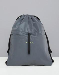 Светоотражающая сумка с затягивающимся шнурком ASOS 4505 - Серый
