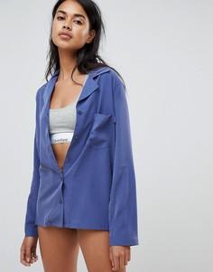Пижамный топ Calvin Klein - Темно-синий