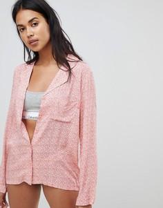 Пижамный топ с длинными рукавами Calvin Klein - Розовый