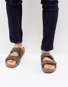 Коричневые замшевые сандалии с ремешками Eastland Caleb - Синий