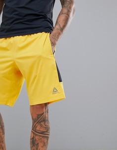 Желтые шорты Reebok Training DN9394 - Желтый