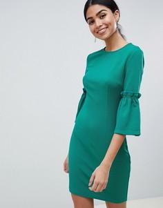 Свободное платье с длинными рукавами AX Paris - Зеленый
