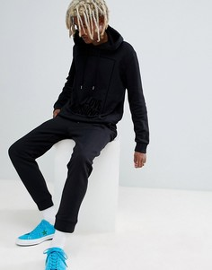 Черные джоггеры скинни с логотипом Love Moschino - Черный