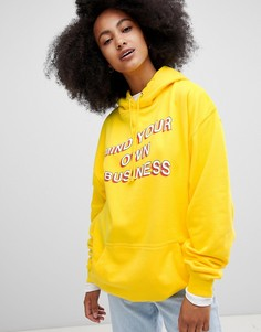 Худи mind your own business Adolescent Clothing - Желтый