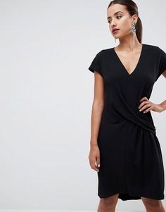 Платье с заниженной талией ASOS DESIGN - Черный