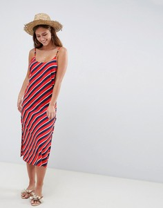 Пляжное платье в полоску на шнуровке сбоку ASOS DESIGN - Мульти