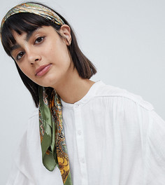 Шелковый шарф-повязка на голову Rock N Rose Rhea - Зеленый