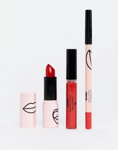 Набор косметических средств для губ красного оттенка ASOS Design Makeup - Скидка 37 - Мульти