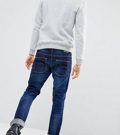 Темные джинсы с потертостями Nudie Jeans Co Grim Tim - Темно-синий