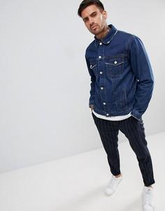 Синяя джинсовая куртка boohooMAN - Синий