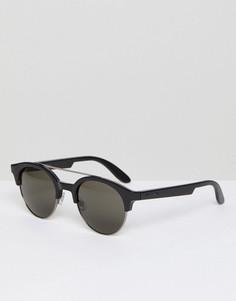 Круглые пластмассовые солнцезащитные очки Carrera - Черный