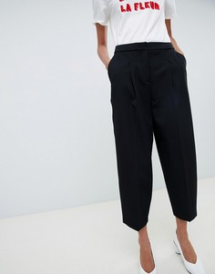 Укороченные брюки Selected Femme - Черный