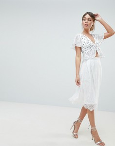 Кружевная юбка для выпускного Liquorish - Белый