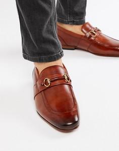 Светло-коричневые кожаные лоферы Ted Baker - Рыжий