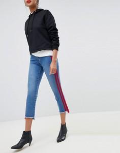 Прямые укороченные джинсы с полосками Only - Синий
