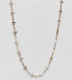 Позолоченное ожерелье-цепочка Rock N Rose - Золотой
