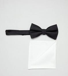 Набор из галстука и платка для нагрудного кармана черного цвета ASOS DESIGN - Мульти