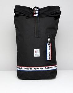 Черный рюкзак с фирменной лентой Reebok Classic DH3565 - Черный