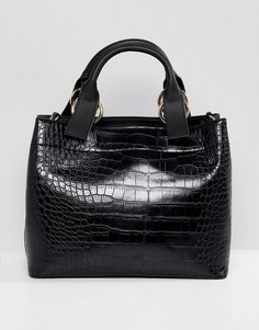 Фактурная сумка-тоут ASOS DESIGN - Черный